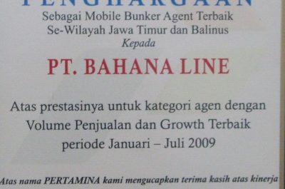 Pertamina - Mobile Bunker Agent Terbaik 2009