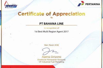 Pertamina - Best Multi Region Agent 2017